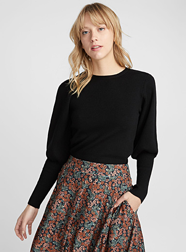 Le pull manches volume