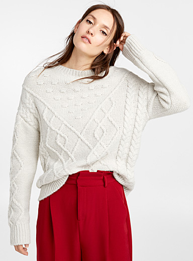 Embossed outline sweater