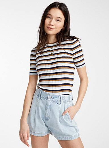 Twik Assorted Multi-stripe ribbed sweater for women