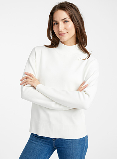 Structured mock-neck sweater