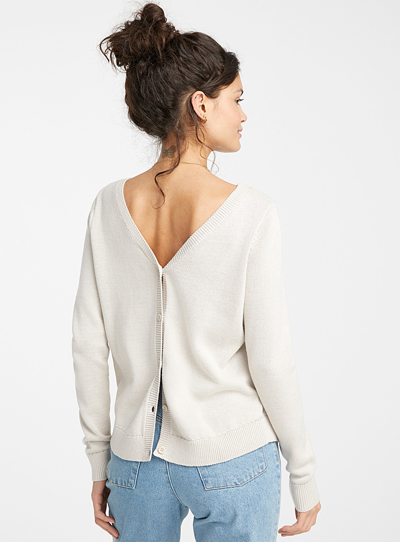 Twik Blue Buttoned back sweater for women