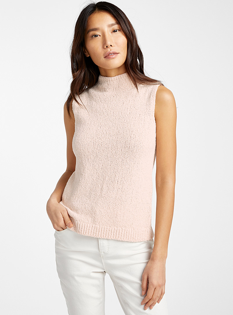Contemporaine Peach Raw knit high-neck cami for women