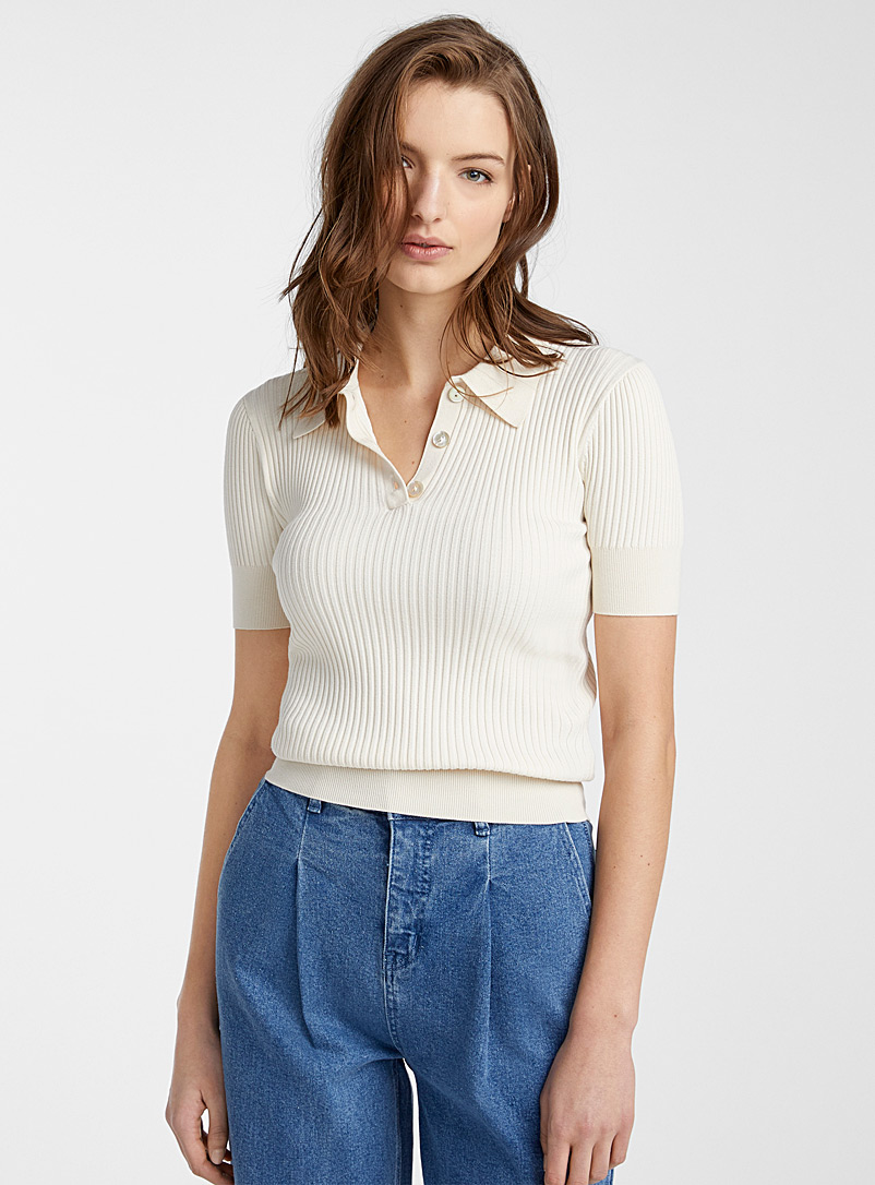 elbow-length-sleeve-polo-sweater