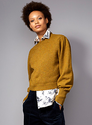 Confetti leg-of-mutton sleeve sweater