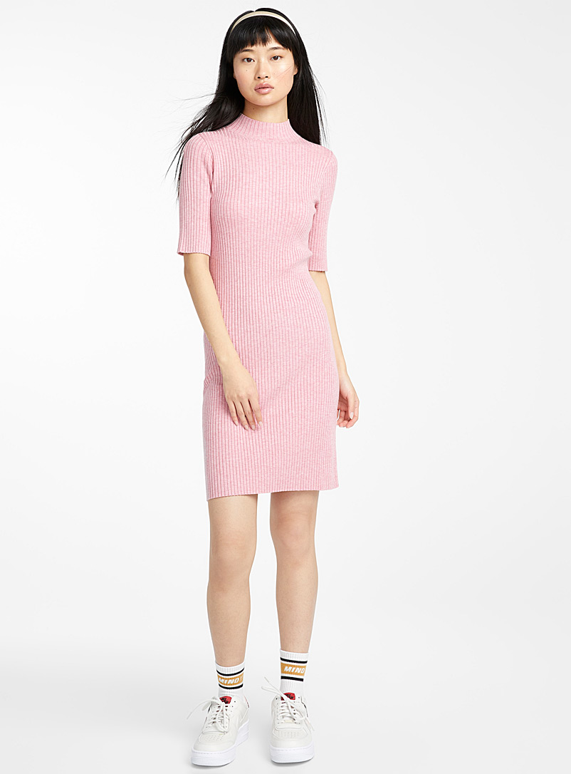 finely-ribbed-mock-neck-dress