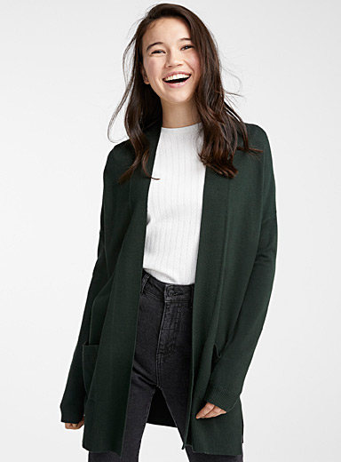 Le cardigan ouvert accent viscose