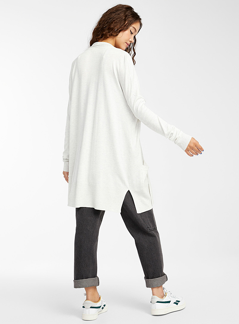 Twik Ruby Red Viscose-accent open cardigan for women