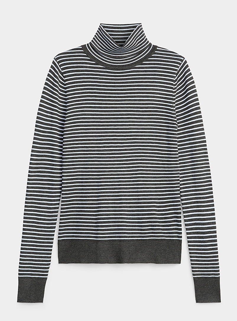 Twik Oxford Thin stripe turtleneck for women
