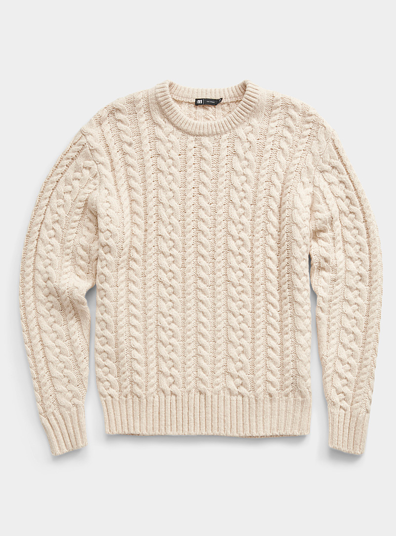 Nautical cable sweater
