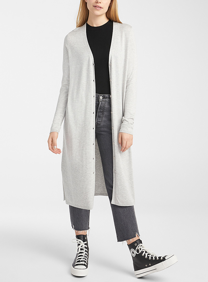 Le long cardigan douce viscose