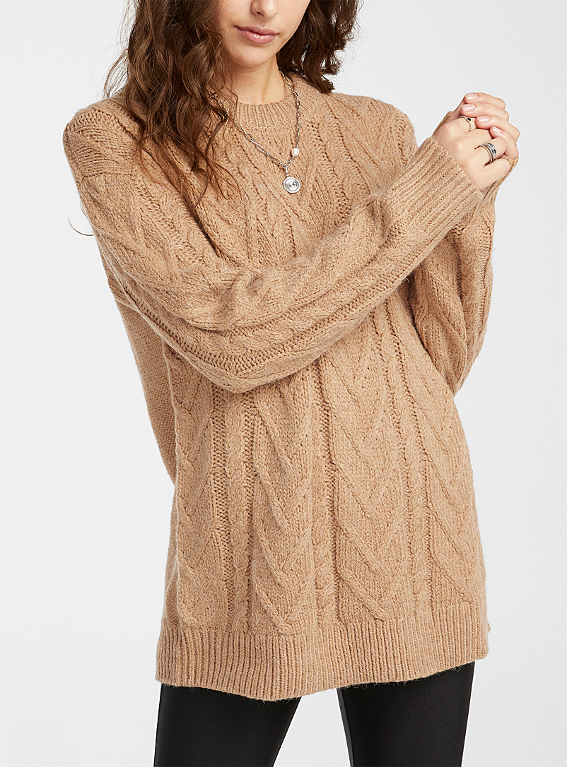 Twik Honey Cable and chevron sweater for women