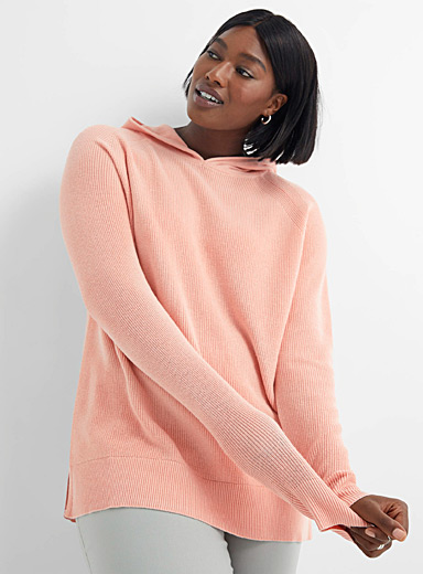 Ribbed hooded sweater
