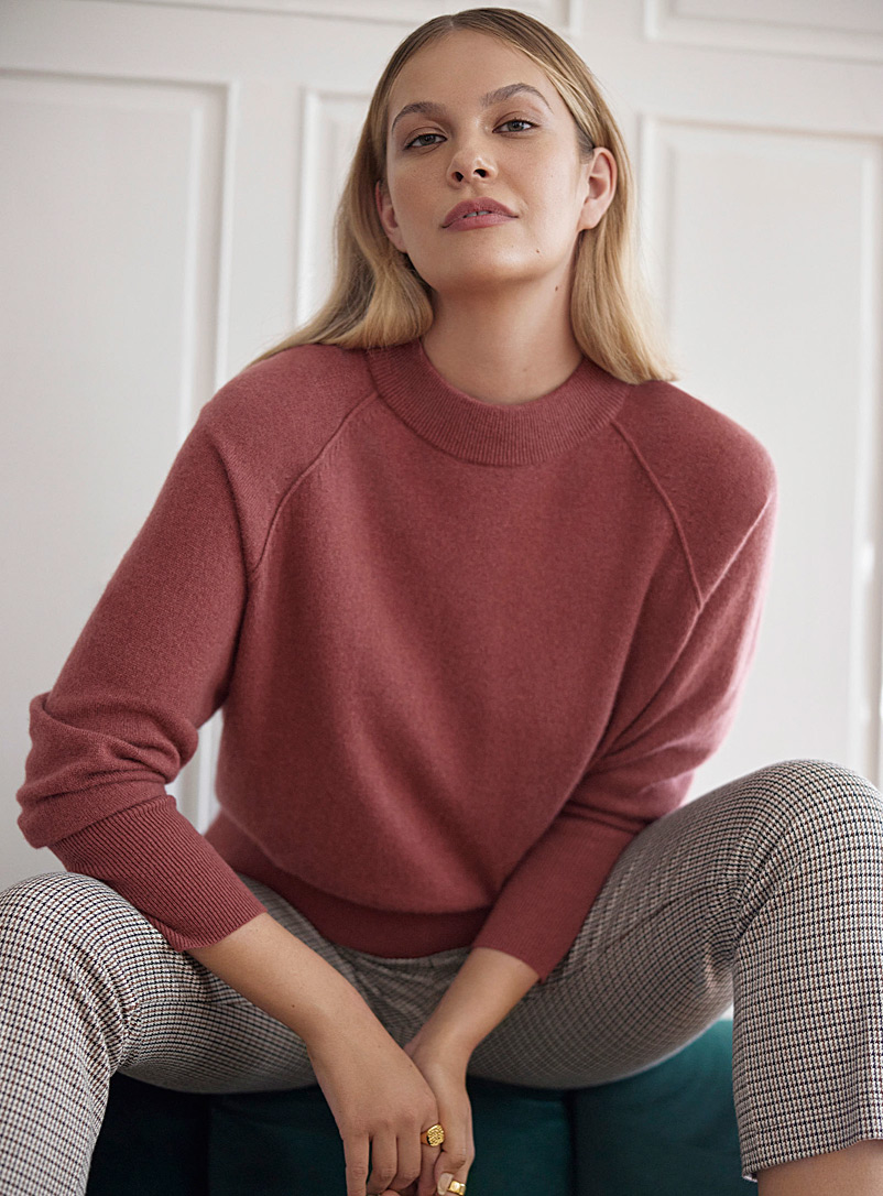 Contemporaine Sand Recycled cashmere raglan sweater for women
