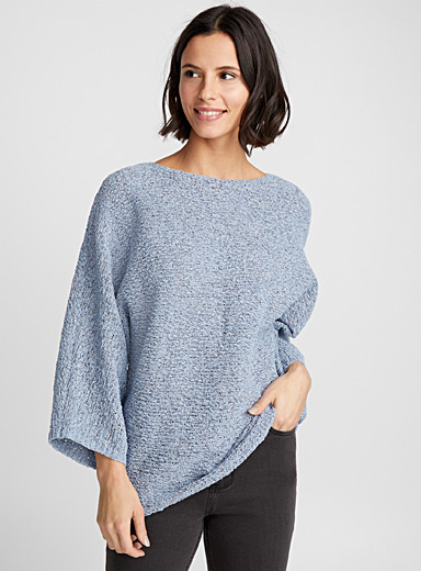 Le pull ample maille ruban