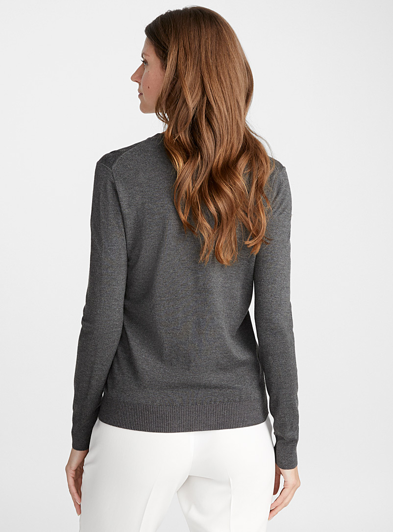 Fine knit crew-neck sweater - Sweaters - Oxford