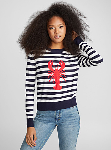 Lobster jacquard sweater