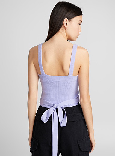 Knotted ribbed cami