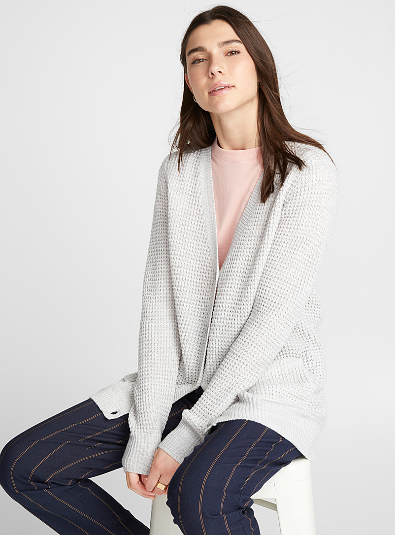 le-cardigan-ample-tricot-gaufre