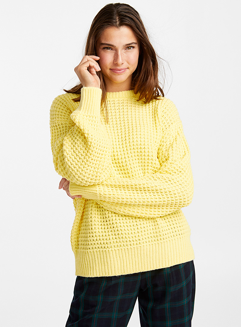 le-pull-ample-tricot-gaufre