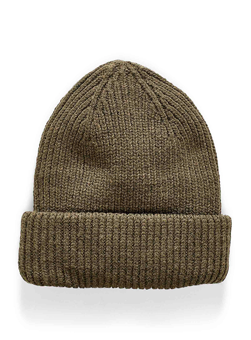 Solid wide-cuffed tuque - Tuques & Berets - Mossy Green