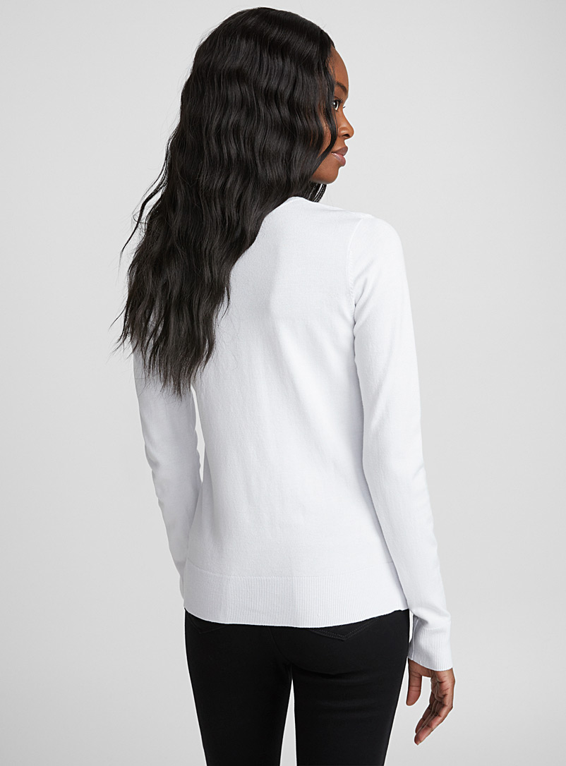 Le pull insertion ottoman - Pulls - Blanc