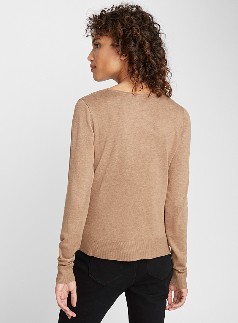 Ottoman-insert sweater - Sweaters - Light Brown