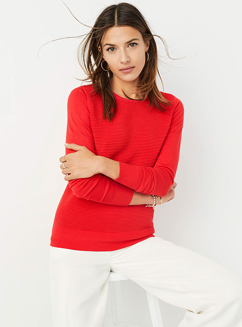Ottoman-insert sweater - Sweaters - Light Red