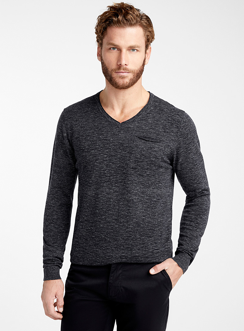 rolled-v-neck-sweater