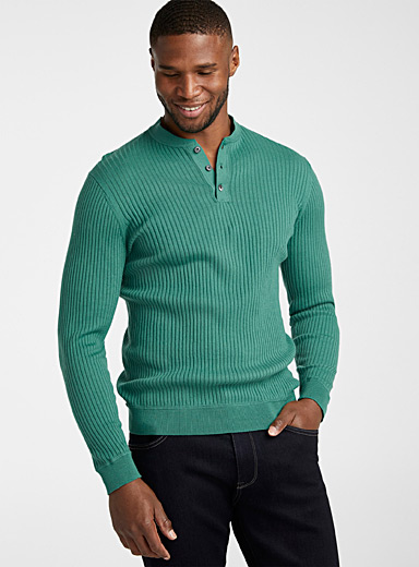 Organic cotton ribbed sweater