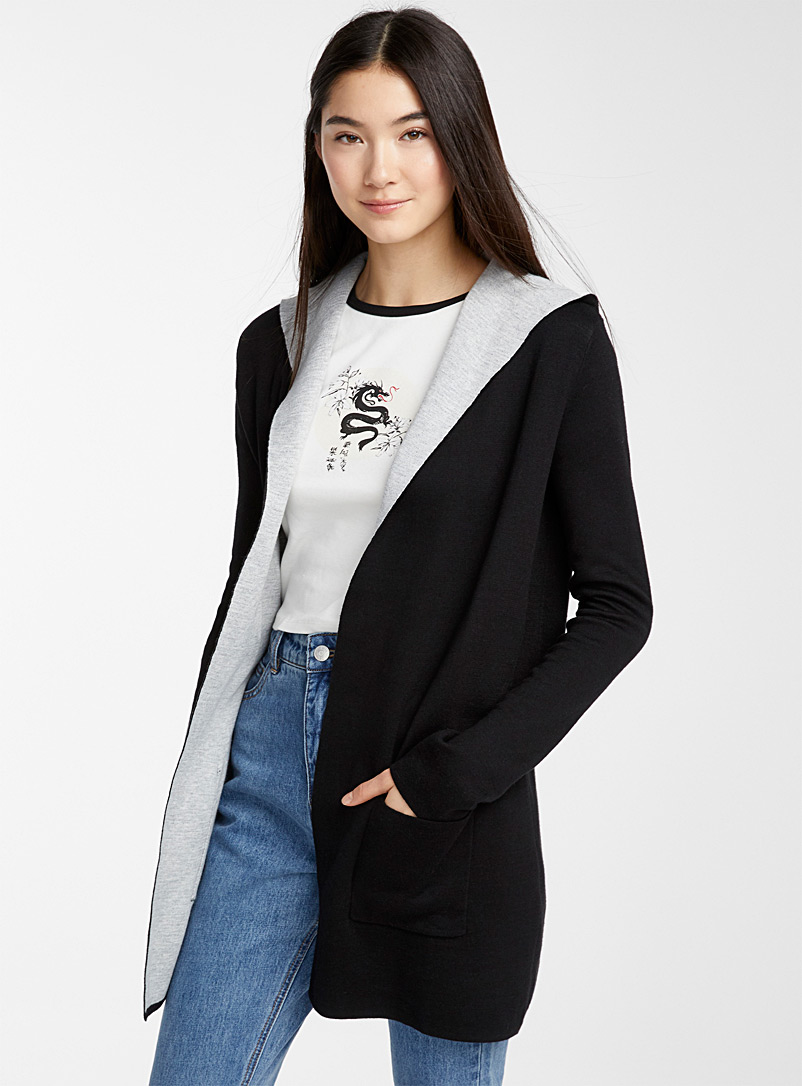 Patch pocket cardigan - Cardigans - Black