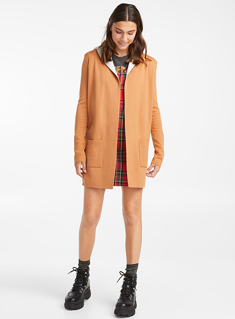 Patch pocket cardigan - Cardigans - Light Brown