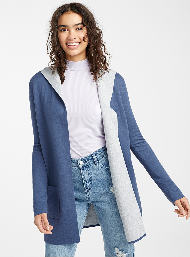 Patch pocket cardigan - Cardigans - Slate Blue