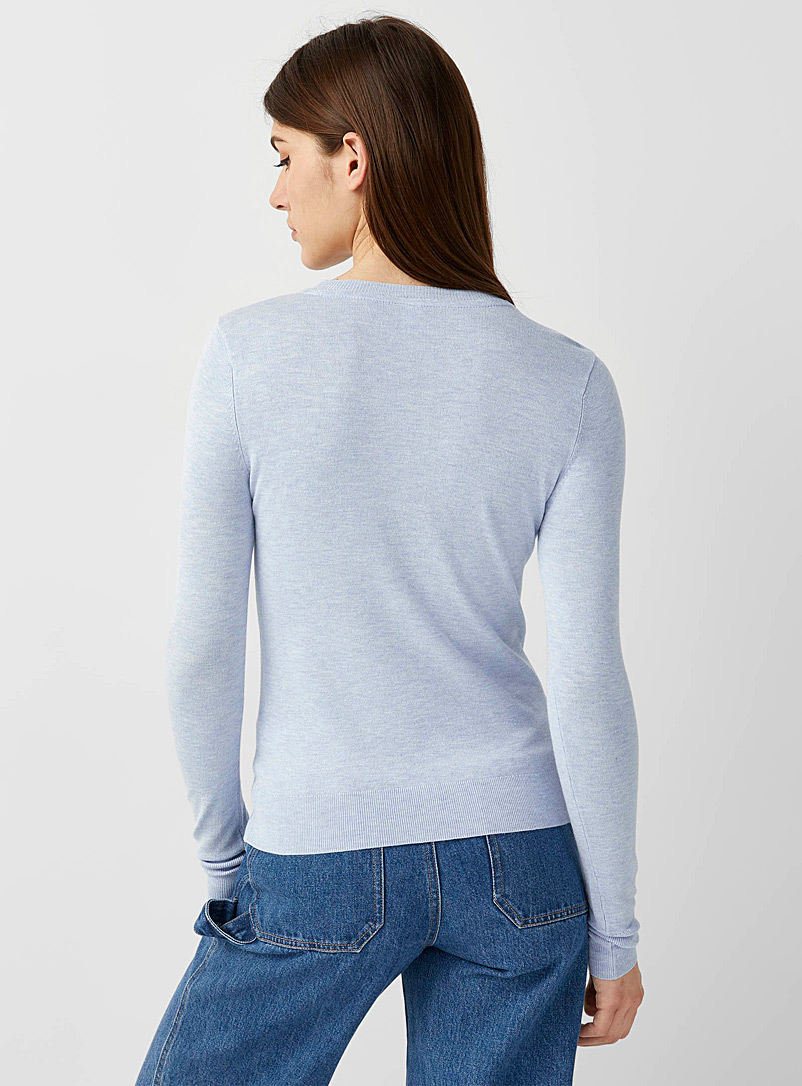 Solid crew neck sweater - Sweaters - Blue