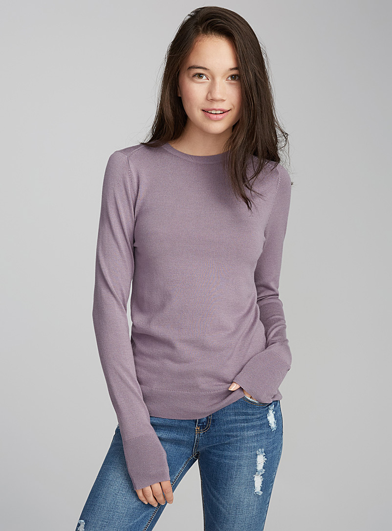 Solid crew neck sweater - Sweaters - Lilacs