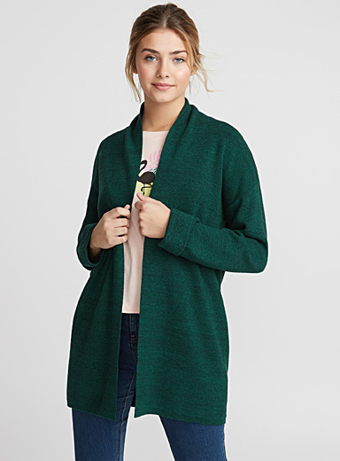 Jacket-collar cardigan