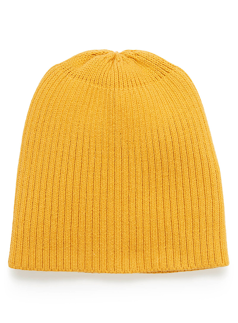 Ribbed tuque - Tuques - Dark Yellow