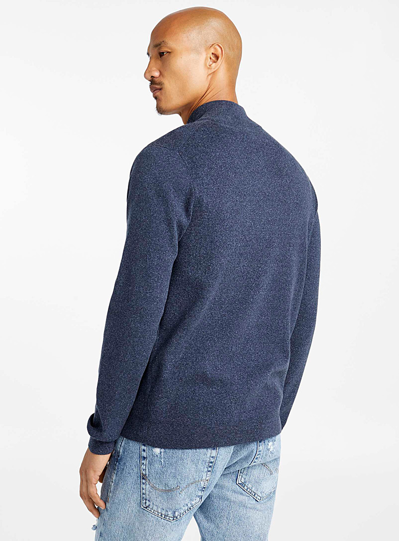 Minimalist zip cardigan - Turtlenecks & Mock necks - Marine Blue