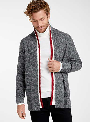 Wool sock open cardigan