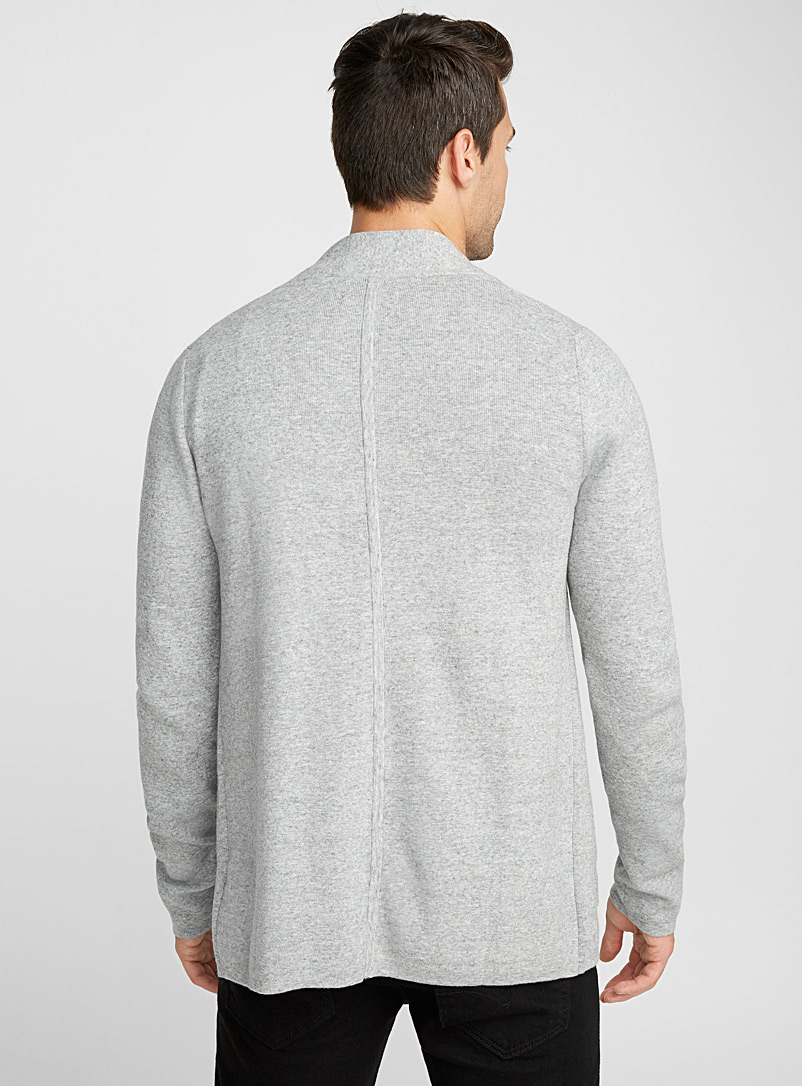 Minimalist cardigan - Shawls & Cardigans - Light Grey