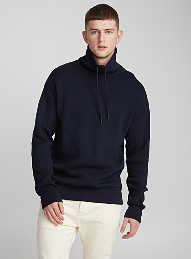 Minimalist tunnel-neck sweater