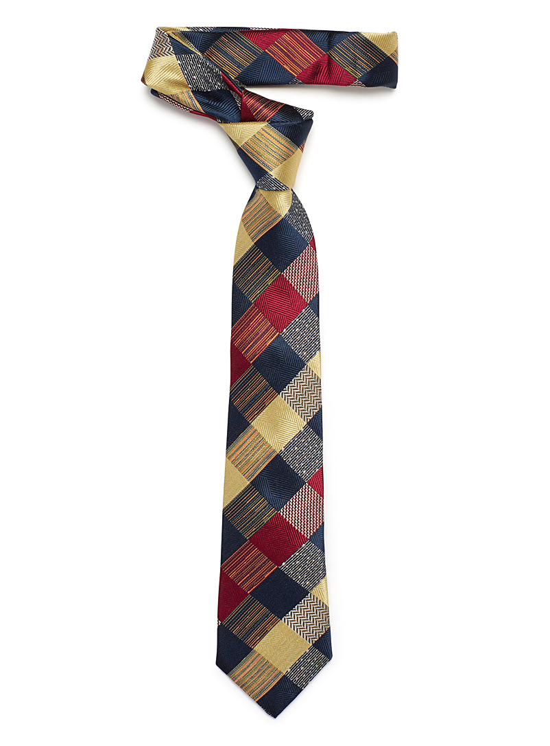 patchwork-check-tie
