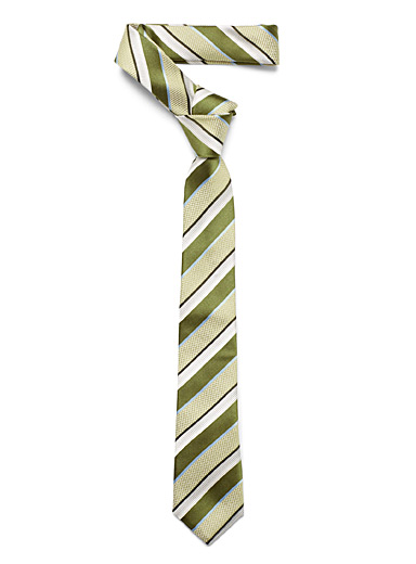 Jacquard-striped tie