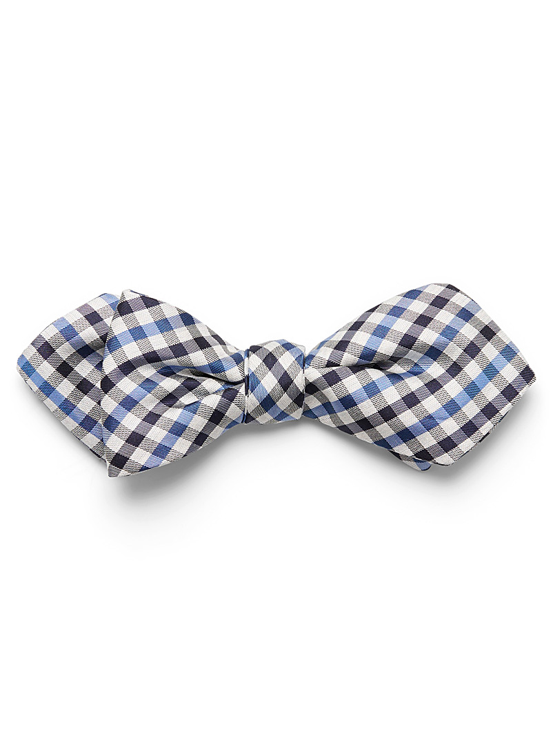 two-tone-gingham-bow-tie