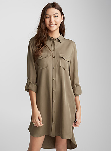 Pure lyocell shirtdress