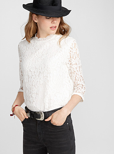 Lace roses blouse