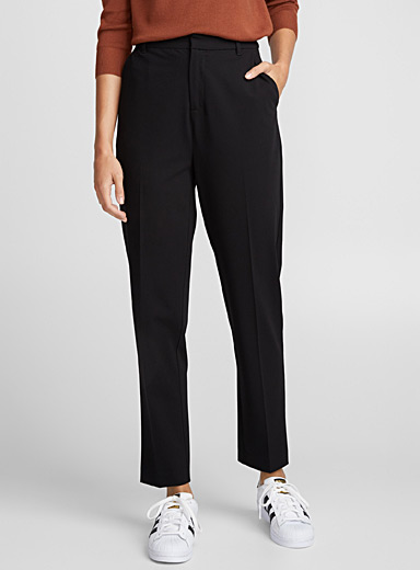 Straight high-rise pant