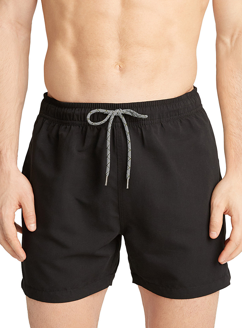 Coloured essential swim trunk - Urban Trunks - Black