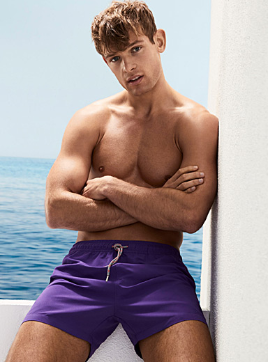 Coloured essential swim trunk