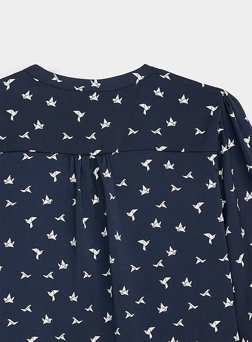 Twik Assorted Three-button printed blouse for women