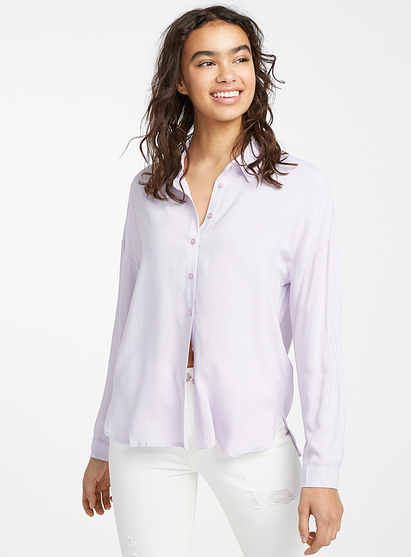 Twik Lilacs Fluid loose shirt for women